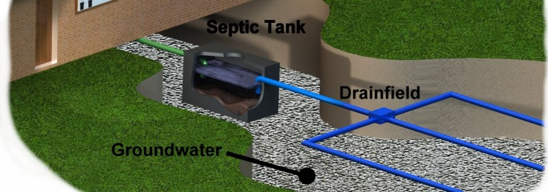 coffee grind in septic system
